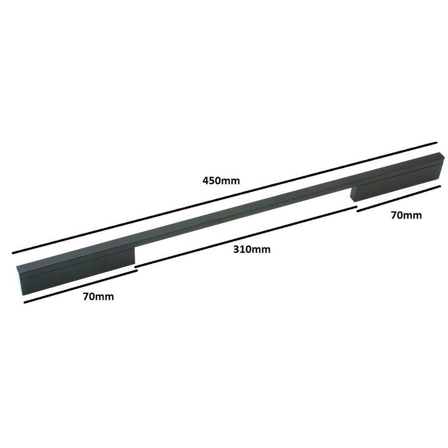 Furniture handle Pont Mat Black 352/384 mm