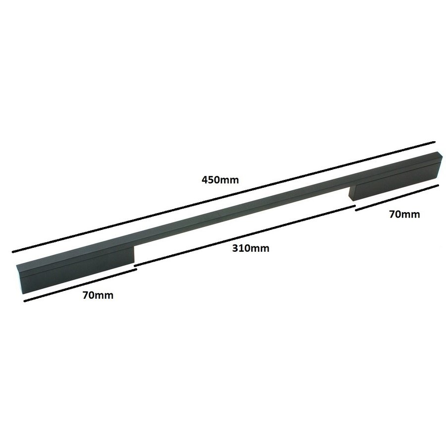 Möbelgriff Pont Mat Black 352/384 mm