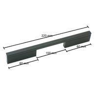 Poignée de meuble Pont Mat Black 128/160 mm