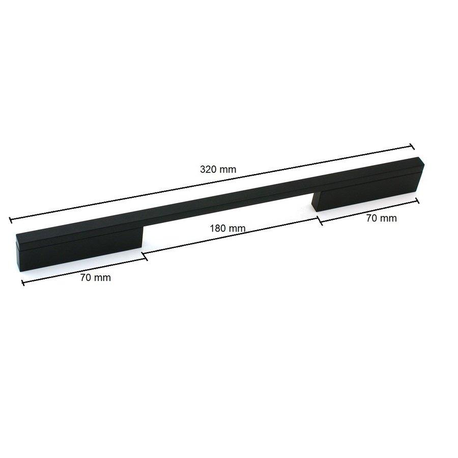 Furniture handle Pont Mat Black 224/256 mm