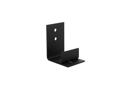 Adjustable door guide for the bottom of the sliding door black