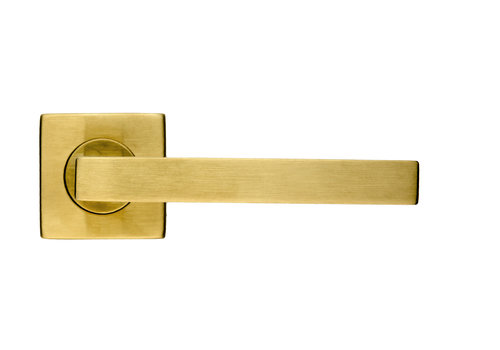Door handle Kubic Shape matt copper No Key