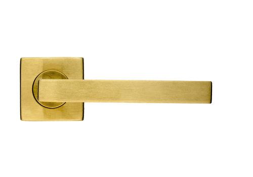 Door handles Kubic Shape matt copper No Key
