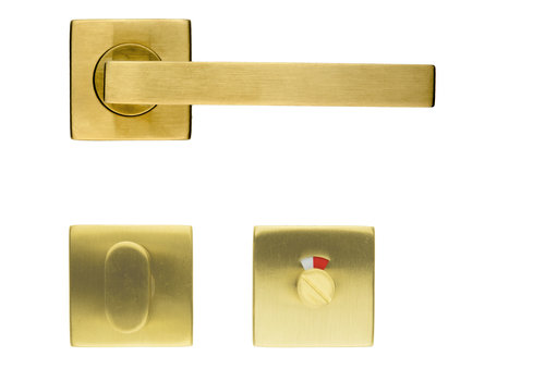Poignée de porte Kubic Shape cuivre mat + WC