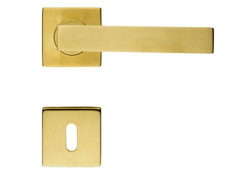 Poignées de porte Cuivre mat cosmique avec plaques à clés