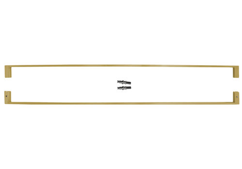 """Door handles """"Cosmic"""" U 20/1000 Matt Copper pair for glass"""