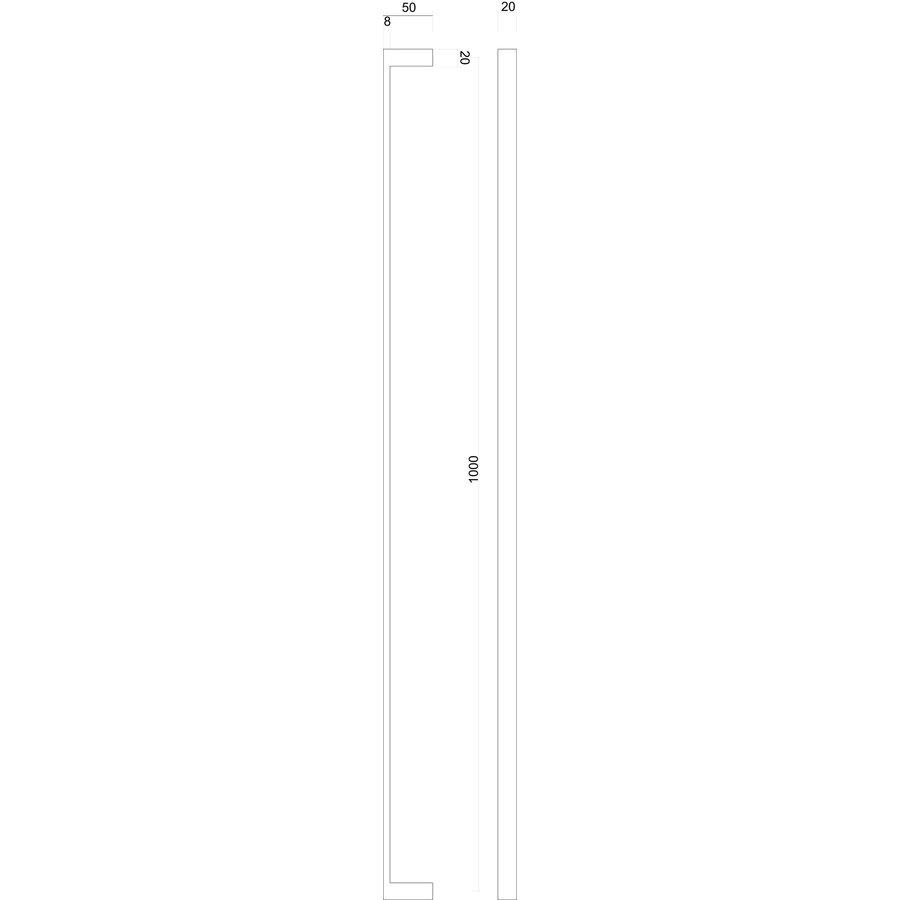 DOOR HANDLES COSMIC 20/1000 MATT COPPER PAIR FOR DOOR THICKNESS> 3CM