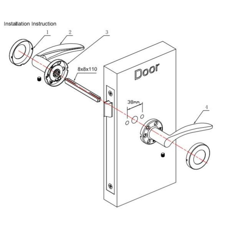 Massieve deurkruk Vinn RVS