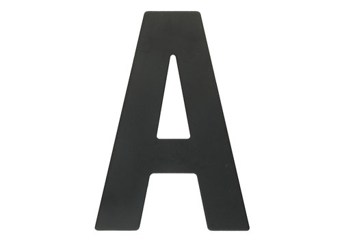 "HOUSE LETTER ""A"" BLACK 130MM"