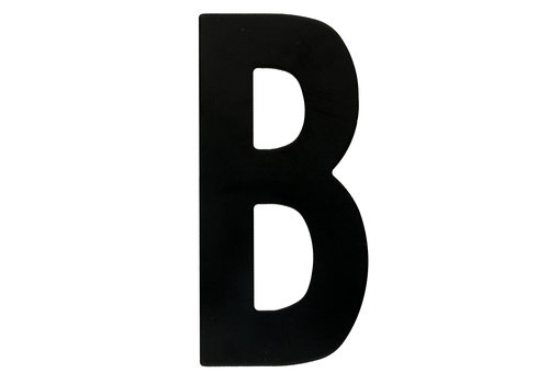 "HOUSE LETTER ""B"" BLACK 130MM"