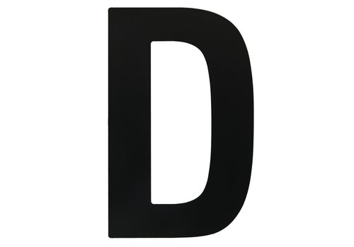 "HOUSE LETTER ""D"" BLACK 130MM"