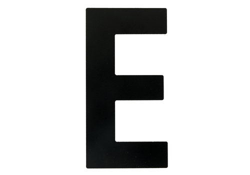 "HOUSE LETTER ""E"" BLACK 130MM"
