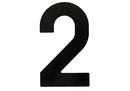 HOUSE NUMBER 2 BLACK 130MM