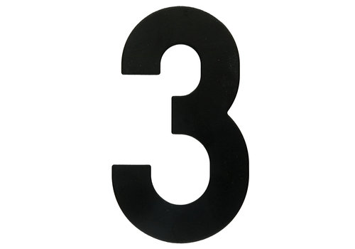 HOUSE NUMBER 3 BLACK 130MM