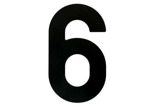 HOUSE NUMBER 6 BLACK 130MM