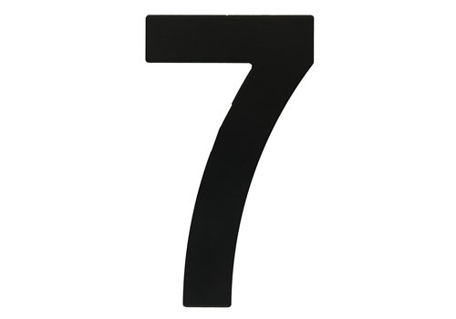 HOUSE NUMBER 7 BLACK 130MM