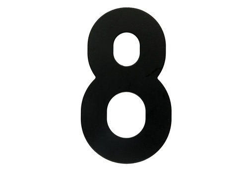HOUSE NUMBER 8 BLACK 130MM
