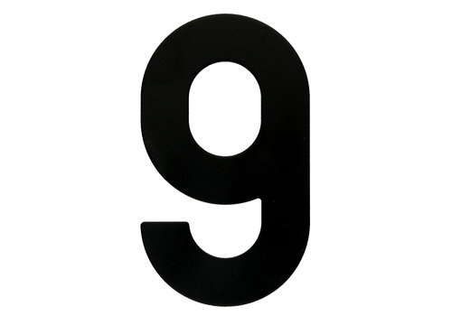 HOUSE NUMBER 9 BLACK 130MM