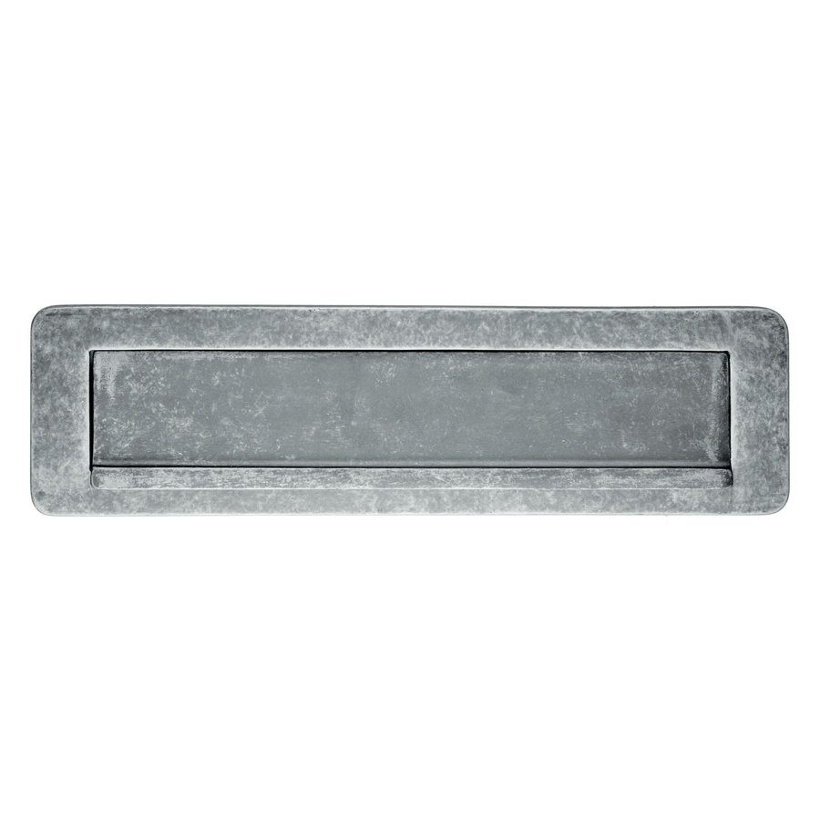 Brievenbusklep old silver 274x72mm