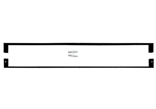 DEURGREEP COSMIC 20/ 800 ZWART PAAR VOOR GLAS