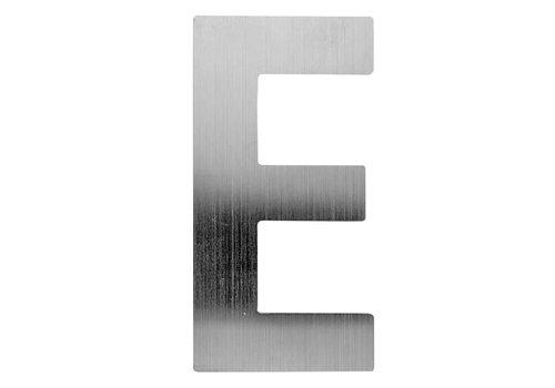 Huisletter E rvs 130mm