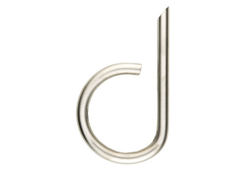Stainless steel house letter D round 130mm