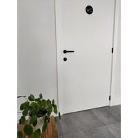 Black Jersey door handles with textured lacquer
