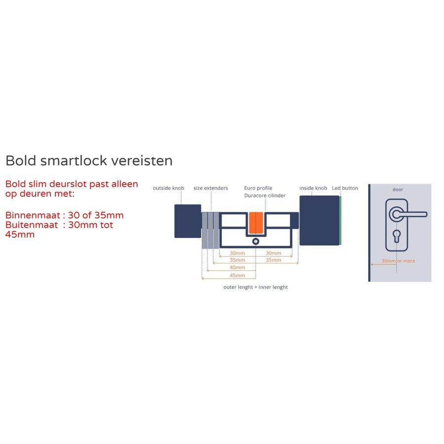 Bold smart cylinder SX33 - SKG3 approved - safe and easy