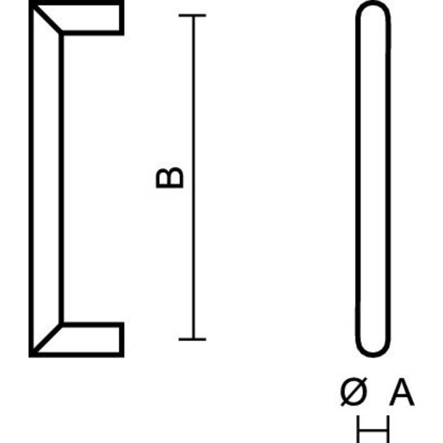 Meubelgreep URG 12/096 zwart