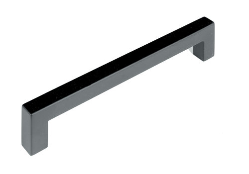 FURNITURE HANDLE CUBICA 12/192 STAINLESS STEEL BLACK