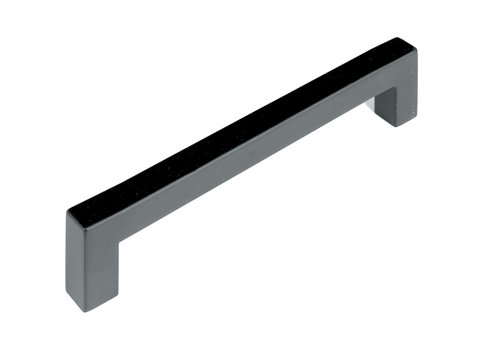 FURNITURE HANDLE CUBICA 12/160 STAINLESS STEEL BLACK