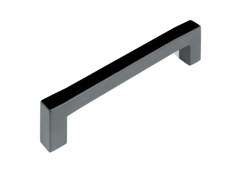 FURNITURE HANDLE CUBICA 12/128 STAINLESS STEEL BLACK