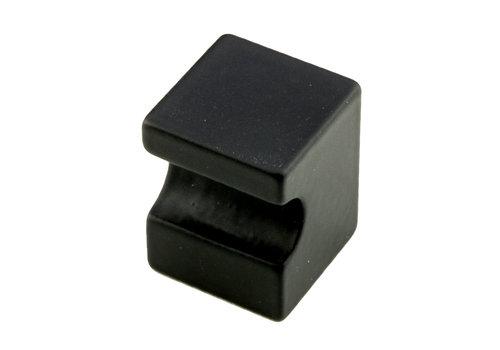 Meubelknop Cubica top zwart