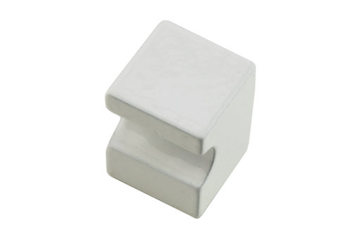White furniture knob CUBICA TOP