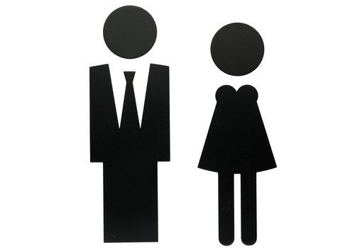 PICTO MAN + WOMAN BLACK