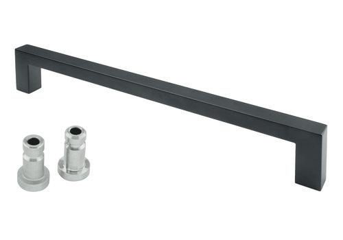"""Black door handle """"Cubica"""" U 20/300 blind"""