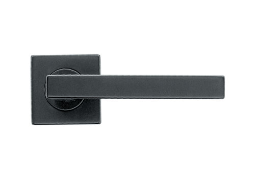 Zwarte deurklinken Kubic Shape zonder BB