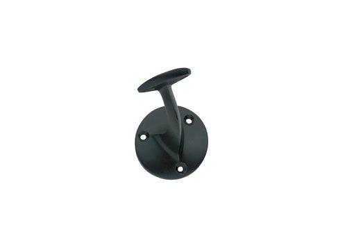 Handrail holder screw-on flat saddle matt black