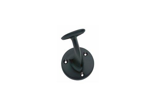 Handrail holder screwed on with hollow saddle matt black