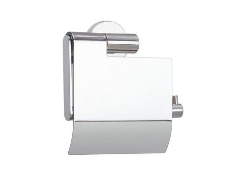 Tiger Boston Porte-rouleau papier toilette avec couvercle Acier inoxydable poli