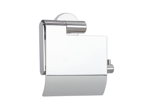 Tiger Boston Toilet roll holder with cover Stainless steel polished