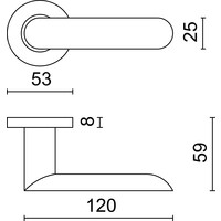 RVS deurklinken Space inox plus + wc