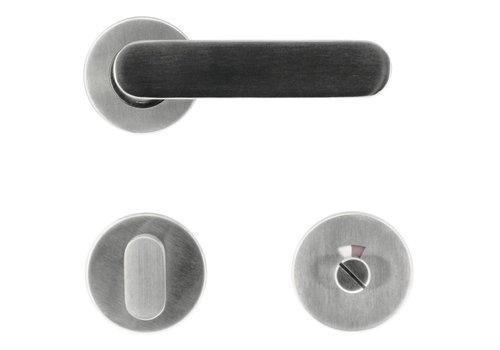 Stainless steel door handles Space stainless steel plus + toilet