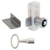 Kastsluiting deurdikte 20mm compleet met sleutelentree, sluitplaat en bedieningssleutel
