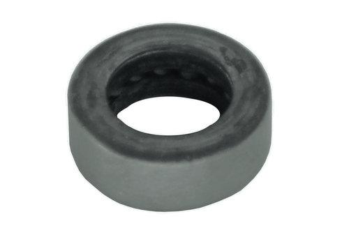 Zwarte rvs Ring 16x6mm voor paumelle 100x88x3.5/6mm zwart