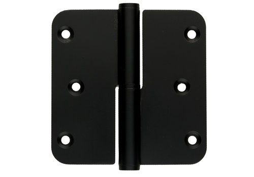 Zwarte paumelle 89x89x2,5mm Rechts