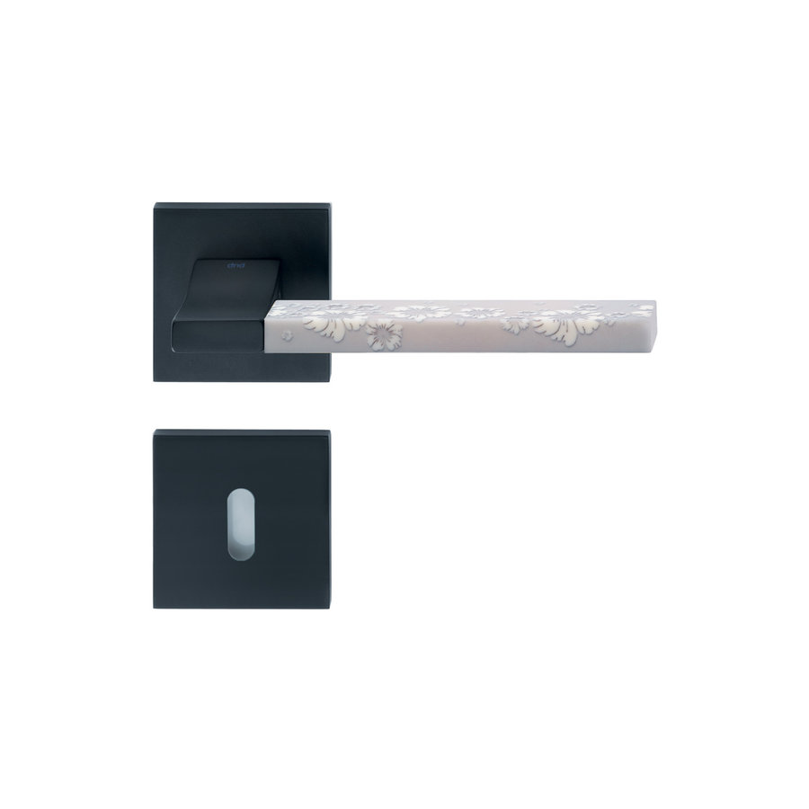 Deurkruk 'Change + ins10' zwart met bijhorende sleutelplaatjes
