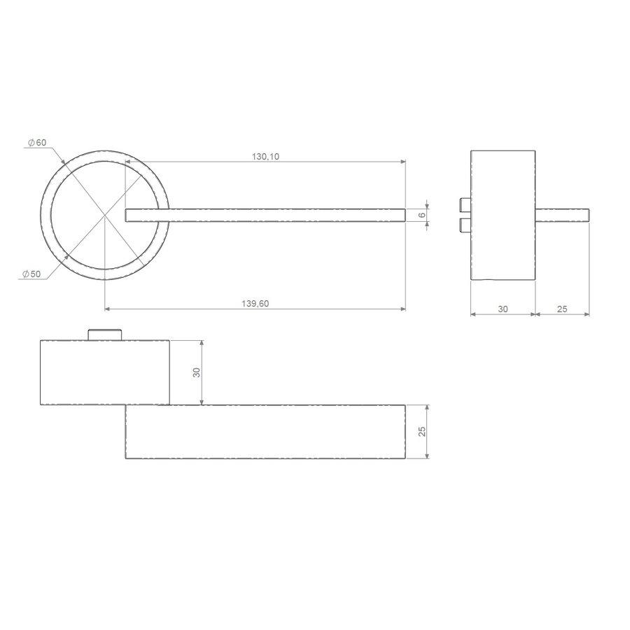 Exclusieve  witte deurklink TIMELESS met sleutelplaatjes