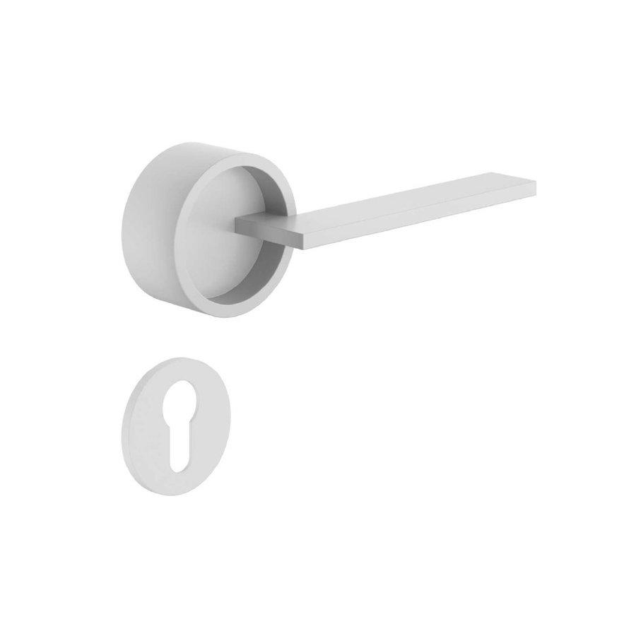 Cilinderplaatjes voor deurkruk Timeless wit