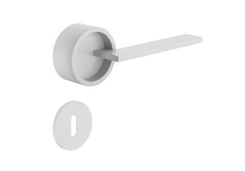 Poignées de porte DnD blanches TIMELESS avec plaques à clés